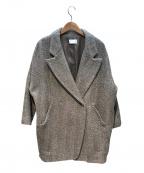 KBF(ケービーエフ)の古着「ヘリンボーンワイドコート」 ブラウン