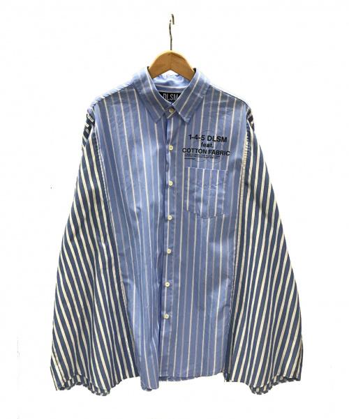DLSM(ディーエルエスエム)DLSM (ディーエルエスエム) ストライプシャツ スカイブルー サイズ:実寸サイズをご確認下さい。 春秋物の古着・服飾アイテム