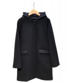 SHIPS(シップス)の古着「ウールフードコート」|ネイビー