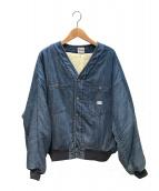 LEE(リー)の古着「リバーシブルデニムボアジャケット」|ブルー