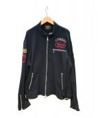VANSON(バンソン)の古着「スウェットジャケット」|ブラック