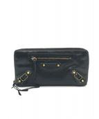 BALENCIAGA(バレンシアガ)の古着「クラシックコンチネンタルジップラウンドファスナー財布」|ブラック
