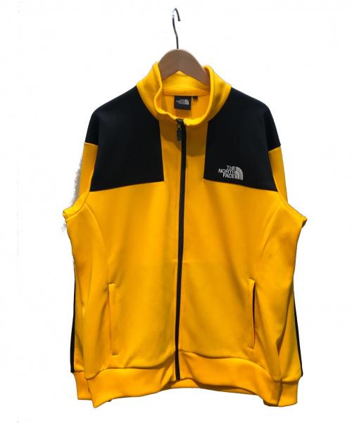 THE NORTH FACE(ザノースフェイス)THE NORTH FACE (ザノースフェイス) ジャージジャケット/トラックジャケット オレンジ×ブラック サイズ:L 秋冬物の古着・服飾アイテム
