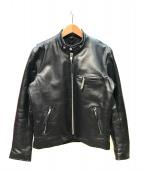 Freeclom(フリークロム)の古着「レザーライダースジャケット」 ブラック