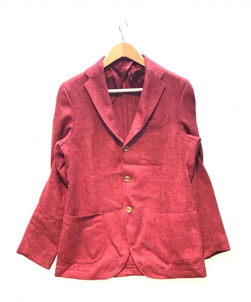 Harridge Row AT BONDS(ハリッジロウアットバンズ)Harridge Row AT BONDS (ハリッジロウアットバンズ) テーラードジャケット ボルドー サイズ:3 秋冬物の古着・服飾アイテム