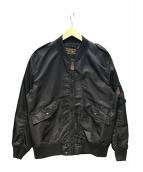 HOUSTON(ヒューストン)の古着「L-2/フライトジャケット」|ブラック