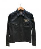 VANSON(バンソン)の古着「コットンジャケット」|ブラック