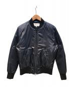 BEAMS(ビームス)の古着「ストライプキルティングジャケット/M1型ダウンジャケット」 ネイビー