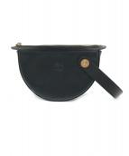IL BISONTE(イルビゾンテ)の古着「半月型クラッチバッグ」|ブラック