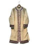 ALEXIA STAM(アリシアスタン)の古着「ボアフリースコート」|ベージュ