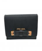 PRADA()の古着「三つ折り財布」|ブラック