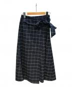 BARNYARDSTORM(バンヤードストーム)の古着「ウインドペンラップスカート」|ネイビー