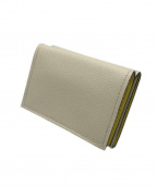 Larcobaleno(ラルコバレーノ)の古着「三つ折り財布」|アイボリー×イエロー