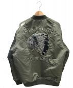 THE BONEZ(ザボーンズ)の古着「MA-1ジャケット」|オリーブ