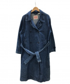 LEVI'S(リーバイス)の古着「デニムトレンチコート」 ブルー