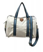 LeSportsac×KEITA MARUYAMA(レスポートサック×ケイタマルヤマ)の古着「2WAYバッグ」|アイボリー×ブルー