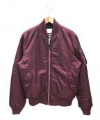 ALPHA()の古着「MA-1ジャケット」 レッド