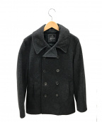 GLOVER ALL(グローバーオール)の古着「メルトンPコート」|ブラック