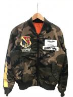 AVIREX(アヴィレックス)の古着「MA-1 ライトニング ブルゾン」|カーキ