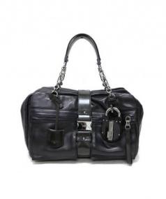 LOEWE(ロエベ)の古着「フロントフラップレザーハンドバッグ」|ブラック