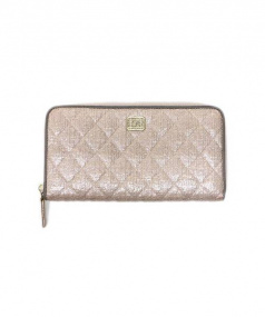 CHANEL(シャネル)の古着「ラウンドファスナー財布」|ピンク