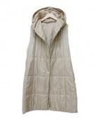 CARA O CRUZ(キャラオクルス)の古着「フーデットリバーシブルロングベスト」|ベージュ