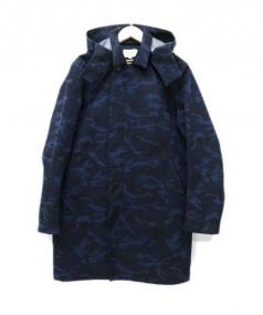 Adam et Rope(アダム エ ロペ)の古着「フーデッドコート」|ブルー