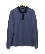 PRADA(プラダ)の古着「長袖ポロシャツ」|ブルーグレー