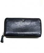 ANYA HINDMARCH(アニヤ ハインドマーチ)の古着「ラウンドファスナー財布」|ブラック