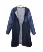 MCQ(マックキュー)の古着「デニム切替コート」 ブルー
