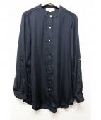 MICHAEL KORS(マイケルコース)の古着「バンドカラーシャツ」|ブラック