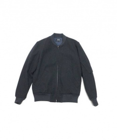 A.P.C.(アーペーセー)の古着「MA-1ジャケット」|チャコールグレー
