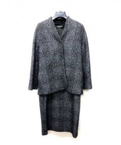 ESCADA(エスカーダ)の古着「セットアップ ワンピース」|グレー×ブラック