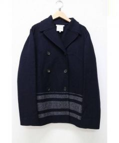 CELINE(セリーヌ)の古着「カシミヤ混Pコート」|ネイビー