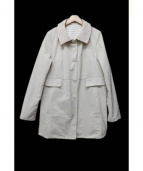 TO BE CHIC(トゥービーシック)の古着「リバーシブルボーダーコート」|ベージュ×ホワイト