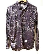 BEDWIN & THE HEARTBREAKERS(ベドウィン アンド ザハートブレーカーズ)の古着「バンダナシャツ」|グレー