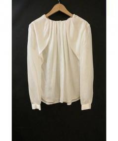 Drawer(ドゥロワー)の古着「シルクブラウス」|ホワイト