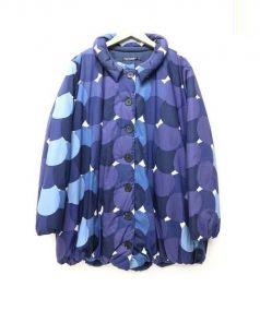 marimekko(マリメッコ)の古着「中綿コート」 ネイビー×ブルー