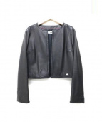courreges(クレージュ)の古着「ラムレザージャケット」|ブラック