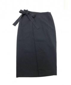 ADORE(アドーア)の古着「ロングラップスカート」|ブラック