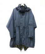 JULIEN DAVID(ジュリアンデイヴィット)の古着「フーデッドコート」 ネイビー