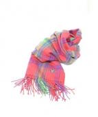 Vivienne Westwood(ヴィヴィアンウエストウッド)の古着「カシミヤマフラー」|レッド×ネイビー