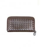 BOTTEGA VENETA(ボッテガベネタ)の古着「ラウンドファスナー財布」|ブラウン