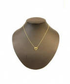 Tiffany&Co.(ティファニーアンドコー)の古着「ハートリボンネックレス」|ゴールド
