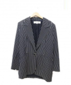 Christian Dior(クリスチャン ディオール)の古着「ヴィンテージストライプジャケット」|ブラック