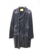 AYUITE(アユイテ)の古着「きりっぱなしコート」|ブラック