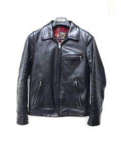 Schott(ショット)の古着「TRACKER JACKET Horween Leather」|ブラック