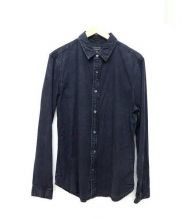GUESS(ゲス)の古着「ムラ染め加工シャツ」|ブラック