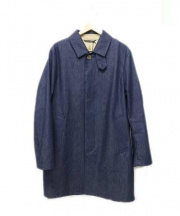 Traditional Weatherwear(トラディショナルウェザーウェア)の古着「SELBY デニムステンカラーコート」|インディゴ