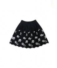 M'S GRACY(エムズ グレイシー)の古着「フレアスカート」|ブラック×ホワイト